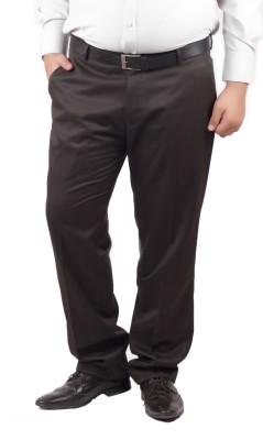 RIPARV Slim Fit Men's Brown Trousers