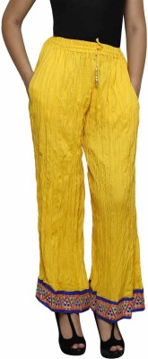 Crux&Hunter Regular Fit Women's Yellow Trousers