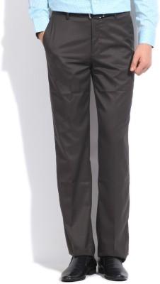 John Players Slim Fit Men's Brown Trousers