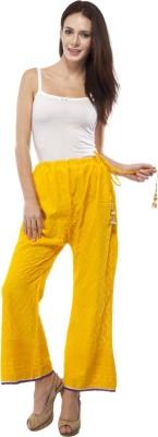 Awwmaze Regular Fit Women's Yellow Trousers