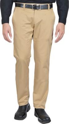 Allen Martin Regular Fit Men's Gold Trousers