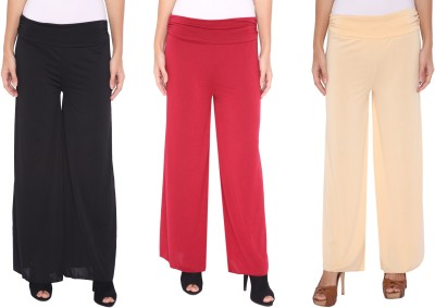 Zadine Regular Fit Women,s Black, Red, Beige Trousers