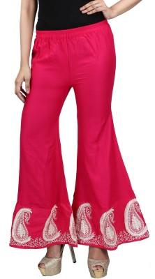 E2G Regular Fit Women's Pink Trousers