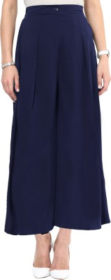 Uptownie Lite Regular Fit Women's Dark Blue Trousers at flipkart