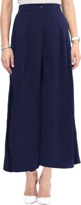 Uptownie Lite Regular Fit Women's Dark Blue Trousers at flipkart