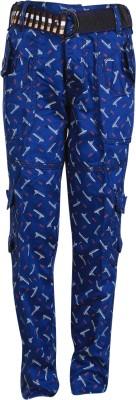 Crazeis Regular Fit Boy's Blue Trousers