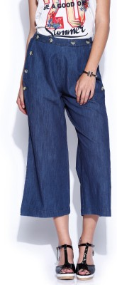 Noble Faith Regular Fit Women's Blue Trousers