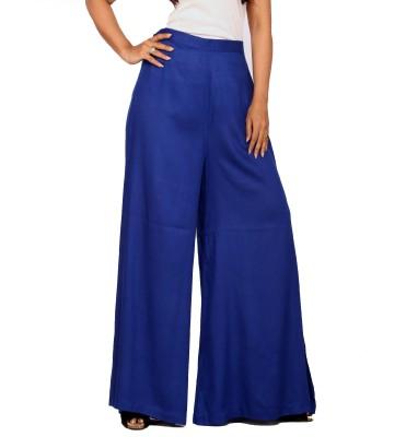 Belinda Regular Fit Women's Blue Trousers