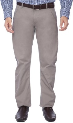 Vettorio Fratini by Shoppers Stop Slim Fit Men,s Grey Trousers