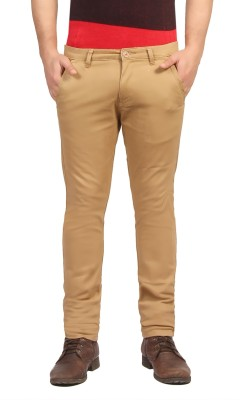 FN Jeans Slim Fit Men's Beige Trousers