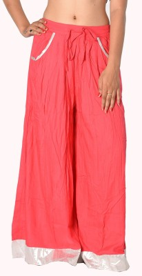 SBS Regular Fit Women's Red Trousers