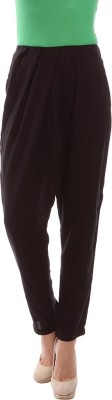 Amari West By INMARK Regular Fit Women's Black Trousers