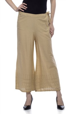 One Femme Regular Fit Women's Beige Trousers