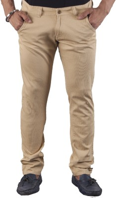 bombay casual jeans Slim Fit Men's Brown Trousers