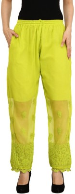 Indiankala4u Regular Fit Women's Light Green Trousers