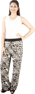Fora Fashion Regular Fit Women's Black, White Trousers