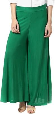 Fashion Arcade Regular Fit Women's Dark Green Trousers