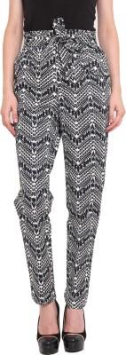 Ama Bella Regular Fit Women's Black, White Trousers