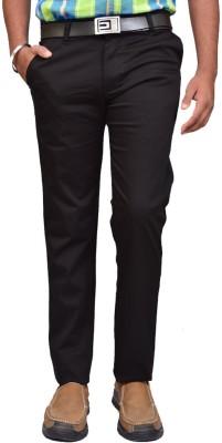 American Noti Slim Fit Men's Black Trousers