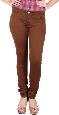FCK-3 Slim Fit Women's Brown Trousers