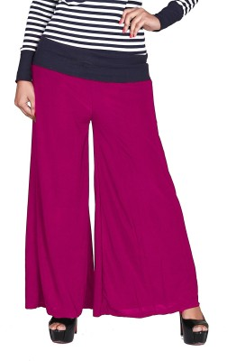 Jugniji Slim Fit Women's Pink Trousers