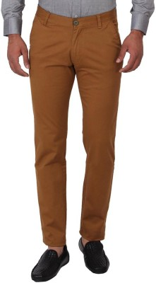 Sliver Tag Slim Fit Men's Brown Trousers