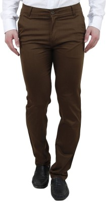 Ansh Fashion Wear Regular Fit Men's Brown Trousers