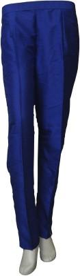 La Vastraa Regular Fit Women's Blue Trousers