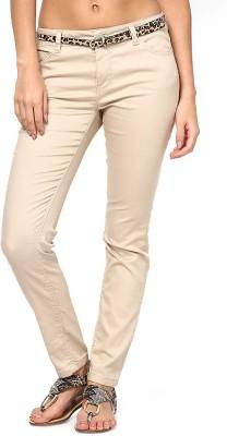 Only Slim Fit Women's Beige Trousers