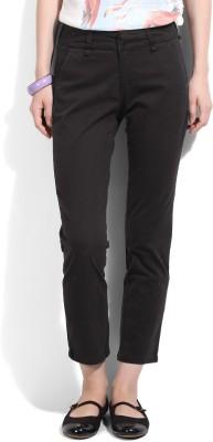 United Colors of Benetton Women's Black Trousers at flipkart