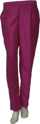 La Vastraa Regular Fit Women's Pink Trousers
