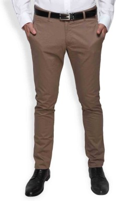 Blackberrys Slim Fit Men's Brown Trousers