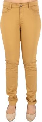Airwalk Slim Fit Women's Brown Trousers