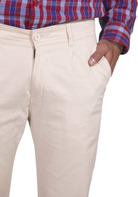 Rollister Slim Fit Men's White Trousers
