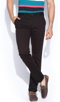 Proline Regular Fit Men's Brown Trousers
