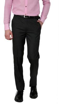 Zeco Regular Fit Men's Black Trousers
