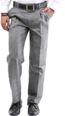 Alnik Regular Fit Men's Grey Trousers