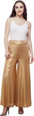 Selfie Regular Fit Women's Gold Trousers