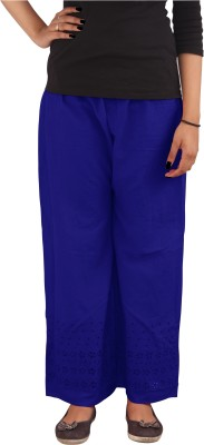 Xarans Regular Fit Women's Blue Trousers