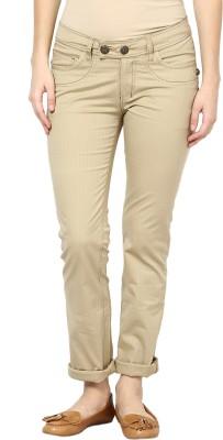 Species Slim Fit Women's Beige Trousers