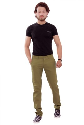 New Valley Regular Fit Men's Green Trousers