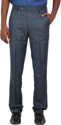 Warp & Weft Slim Fit Men's Blue Trousers