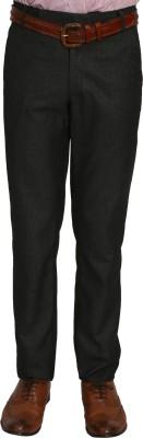 Bellavita Regular Fit Men's Black Trousers
