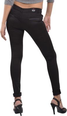 Devis Slim Fit Women's Black Trousers