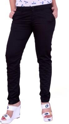 Airwalk Regular Fit Women's Black Trousers