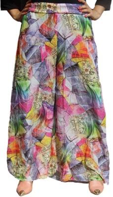 CrazeVilla Regular Fit Women's Multicolor Trousers