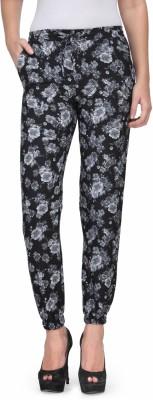 Kiosha Slim Fit Women's Black, Grey Trousers