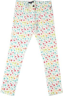 Allen Solly Regular Fit Girl,s White Trousers