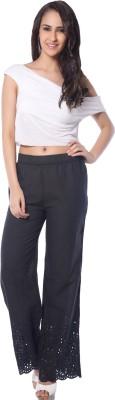 Florriefusion Regular Fit Women's Black Trousers