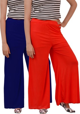 Ace Regular Fit Women's Blue, Red Trousers